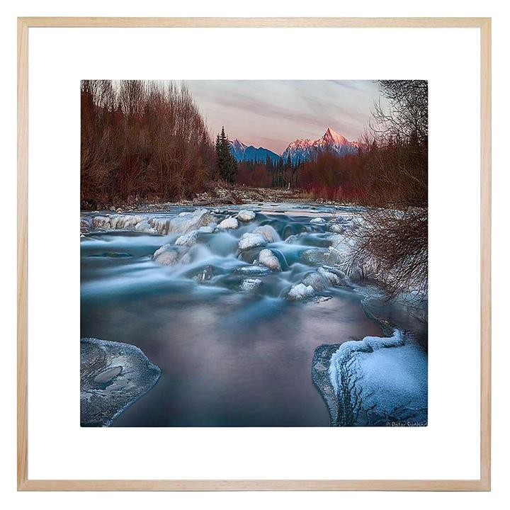 Fire and Ice Square Framed Print