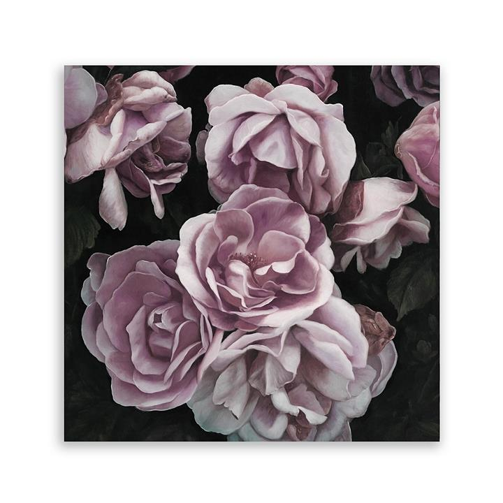 Roses Square Canvas Art