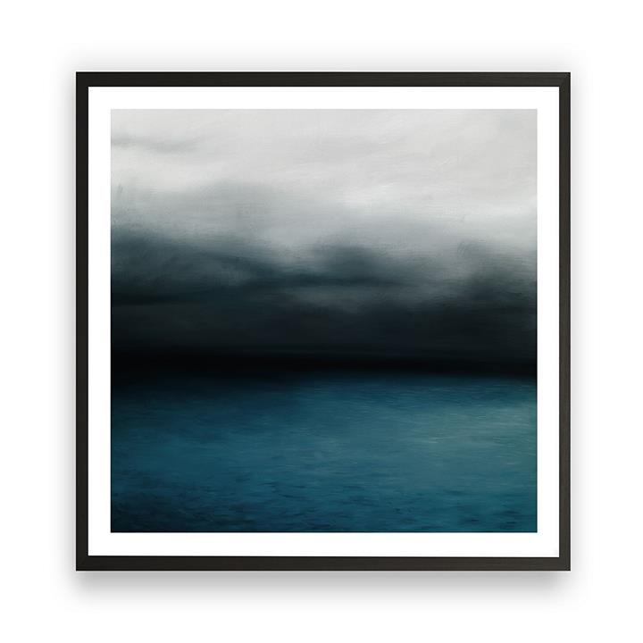 Dark Horizon Square Framed Art Print