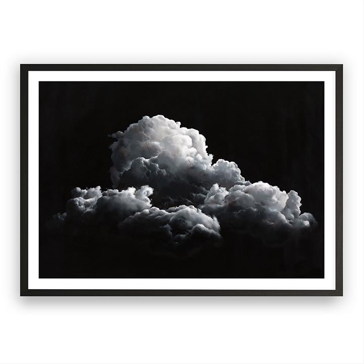 Clouds at Night Framed Art Print