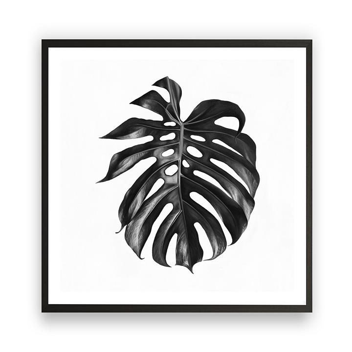 Monstera Leaf Square Framed Art Print