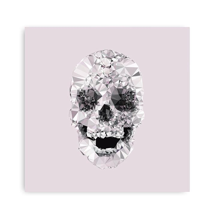 Geo Skull Square Canvas Art