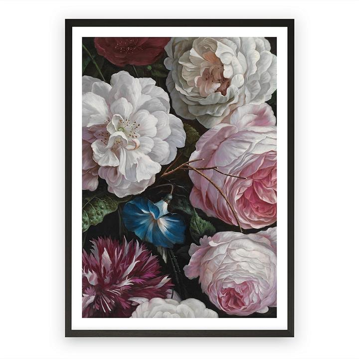 Romantic Floral Framed Art Print