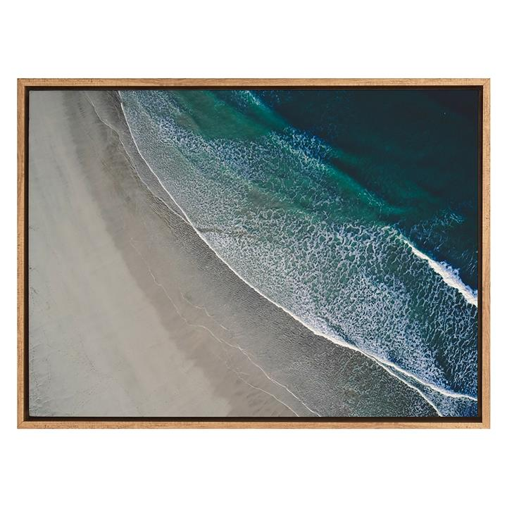 Over the Ocean Framed Canvas Print