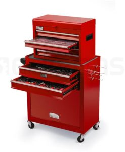 Red 1200 Piece Kitted Tool Cabinet + Box