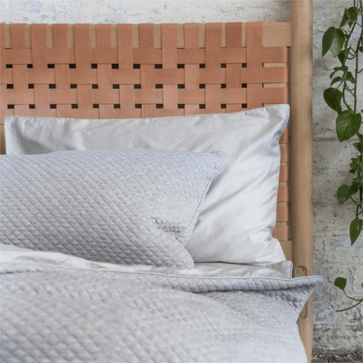 ETHAN Grey Marle Quilt Cover Set