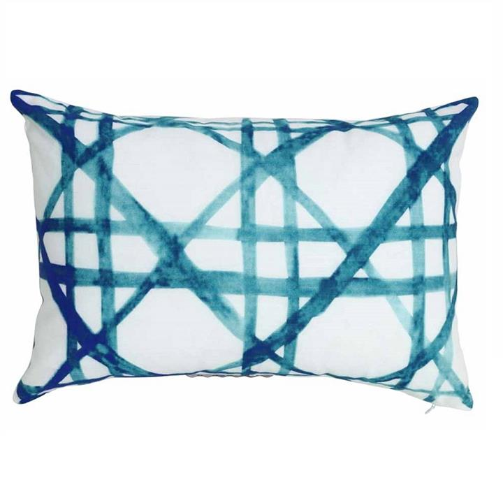 Hector Cushion | Blue or Coral