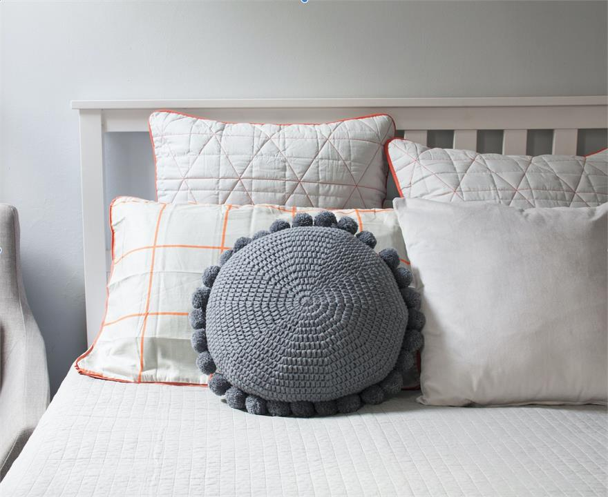 Closely Knit Soleil Pom Pom Cushion | Various Colours