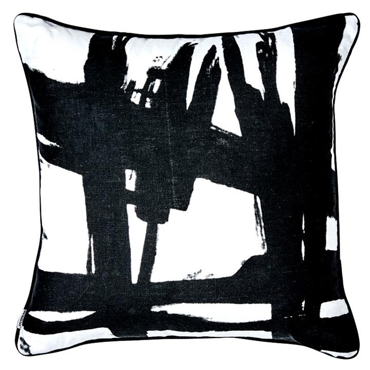 Black Paint 50x50cm Cushion Cover