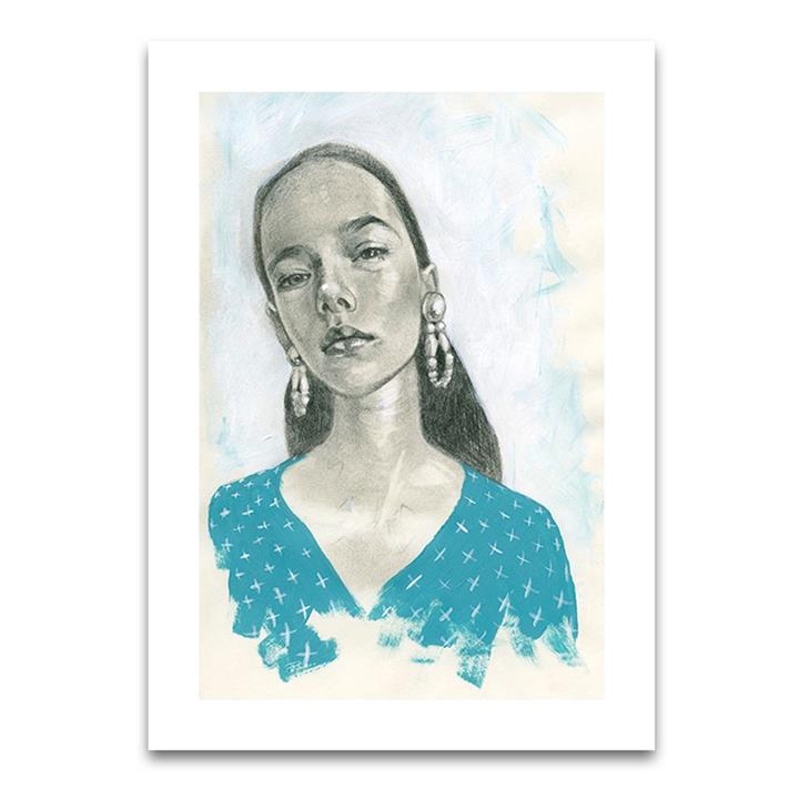 Blue Girl 2 | Limited Edition Unframed Print