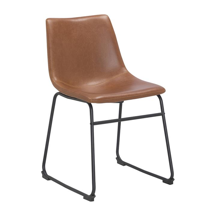 Bailey Dining Chair | Tan Vintage Leatherette