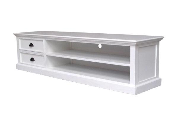 Halifax White Lowline Entertainment Unit | 180cm