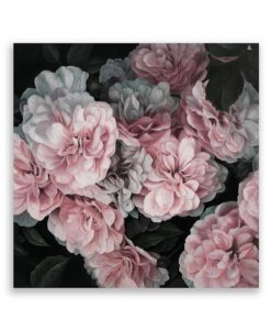 Blooms Square Canvas Art