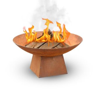Saetia Vintage Rusted 80cm Outdoor Fire Pit