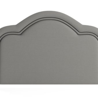 Jenner King Size Bed Head Stone Grey