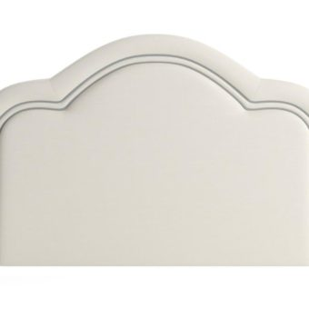 Jenner King Size Bed Head Classic Cream