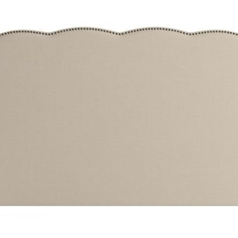 Clover King Size Bed Head French Beige