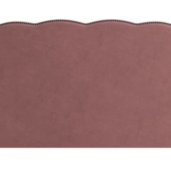 Clover King Size Bed Head Blush Pink