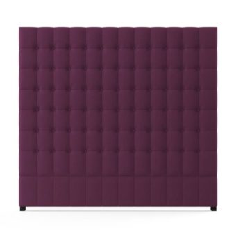 Leia Tall King Size Bed Head Orcein Purple