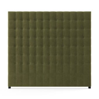 Leia Tall King Size Bed Head Olive Green