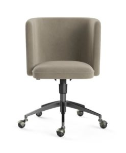Vince Office Chair Black Putty Beige