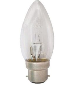 Halogen Candle Lamp Clear B22 18W in 2800K CLA Lighting