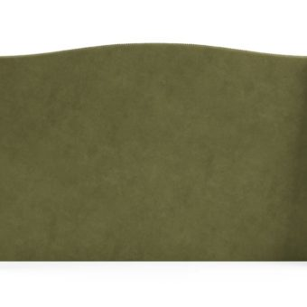 Brooklyn King Size Bed Head Olive Green