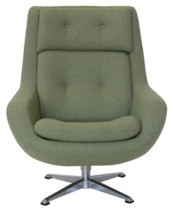 Koppla Fabric Swivel Armchair Tweed Light Green Matt Blatt