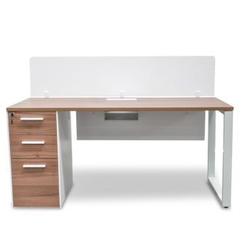 Halo 1 Seater Office Desk With Privacy Screen - Upgraded Legs -...