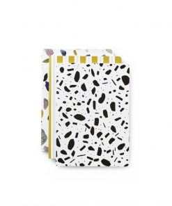 Large Notebook Set Of 3 Light Print