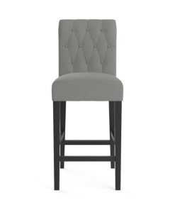 Espen Bar Stool Stone Grey Black Solid Beech