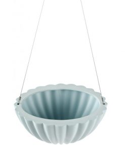 Jelly Oval Pleated | Blue | Hanging Planter by Angus & Celeste