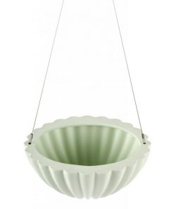 Jelly Oval Pleated | Green | Hanging Planter by Angus & Celeste