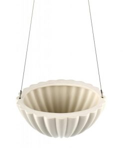 Jelly Oval Pleated | White | Hanging Planter by Angus & Celeste