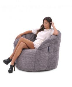 Butterfly Sofa by Ambient Lounge | Luscious Grey Interiors Fabric)