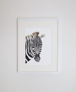 Zoe the Zebra Giclee Print | by For Me By Dee