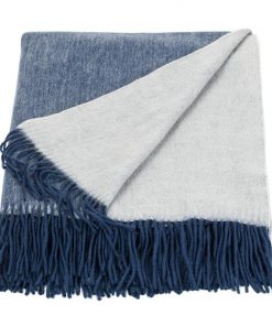 Cashmere Mix Throw | Ink/Eggshell