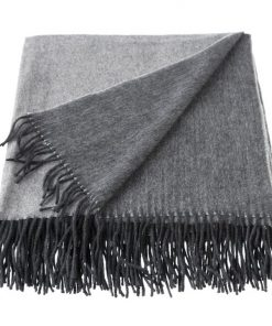 Cashmere Mix Throw | Charcoal/Grey
