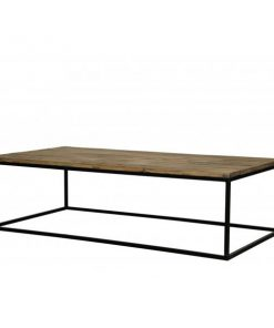 Industrial Coffee Table Rec Black