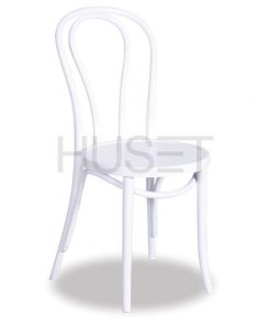 White Vienna 18 Bentwood Chair by Micheal Thonet