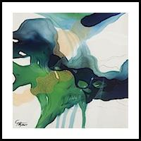 John Martono 'Green Serenade' | Framed print by Tusk Gallery