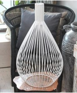 Cage Pendant | White | by Raw Decor