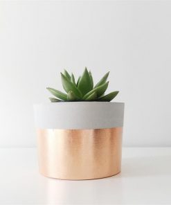 Concrete Planter | Copper Dipped | by Coral and Herb