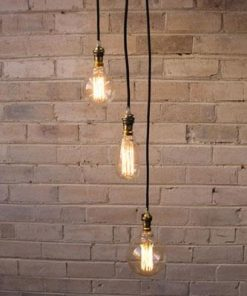 Ceiling Pendant Cord | 3 Drop Light Fixture