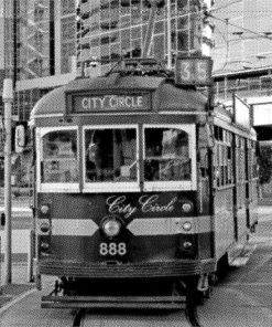 Melbourne City Circle Tram | Stretched Canvas/Printed Panel