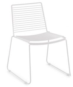 Velletri White Indoor Outdoor Solid Wire Dining Chair