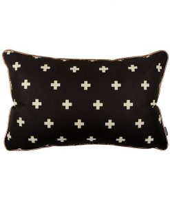 Crossed Out Cushion | Black or Lilac