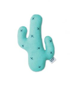 Knitted Cactus Cushion by Homely Creatures | Mint |Small