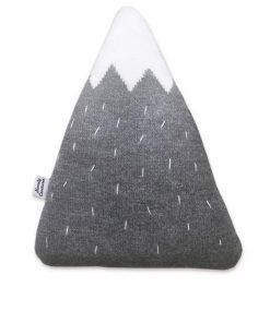 Knitted Mountain Cushion by Homely Creatures | Light Grey | Large