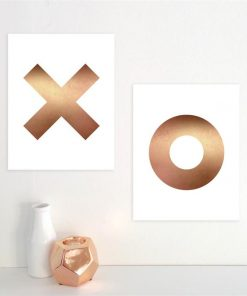 XO Prints | Set of 2 | Marble or Copper
